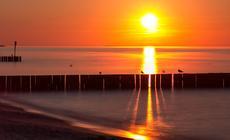 Morze Bałtyckie: plaża w Kołobrzegu